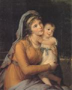 Countess A S Stroganova and Her Son (san 05), VIGEE-LEBRUN, Elisabeth